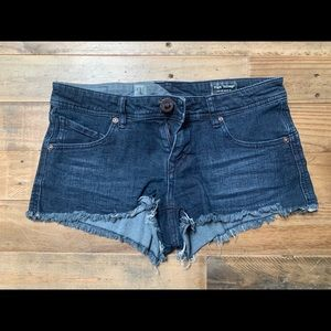 Volcom distressed cut-off shorts